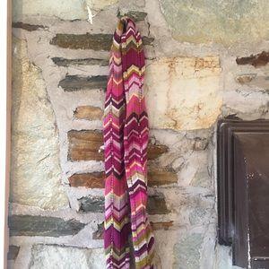 Missoni for Target Accessories - Missoni x Target Skinny Knit Pink Chevron Scarf